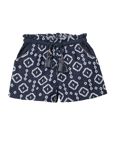Embroidered Bermuda Shorts, Sizes 4-6