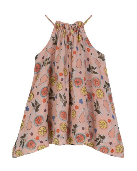 Handkerchief-Hem Halter Swing Dress, Size 8-12