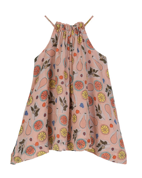 Handkerchief-Hem Halter Swing Dress, Size 2-6
