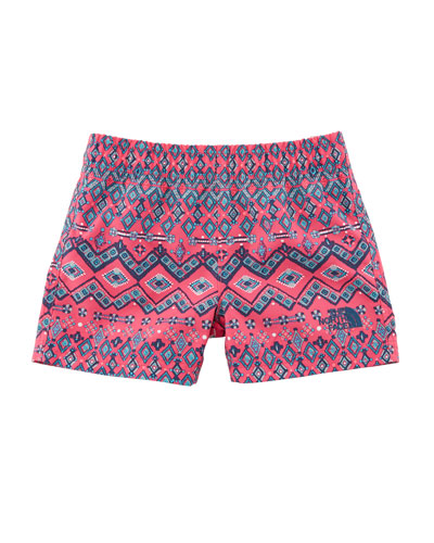 Hike-Water Ikat-Print Shorts, Size 2-4T