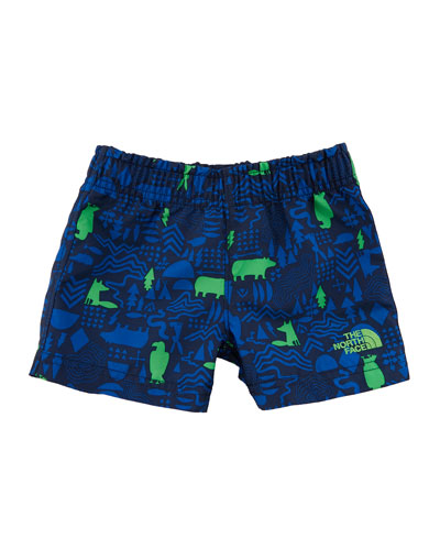 Hike-Water Critter-Print Shorts, Size 2-4T
