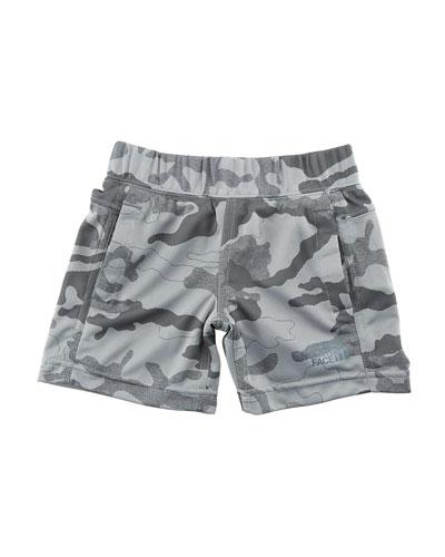 Mak Jersey Camo Shorts, Size 2-4T