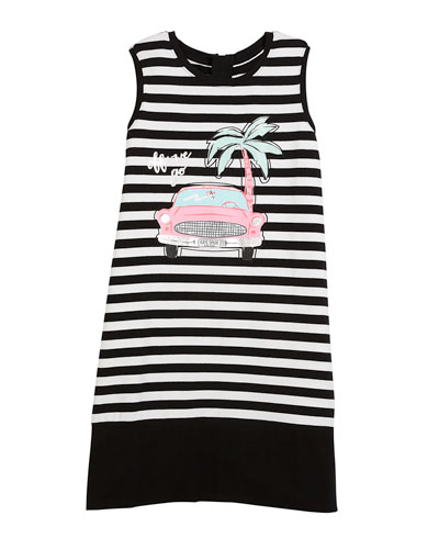 striped road trip sleeveless dress, size 7-14