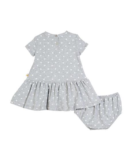 polka-dot camera dress w/ bloomers, size 12-24 months