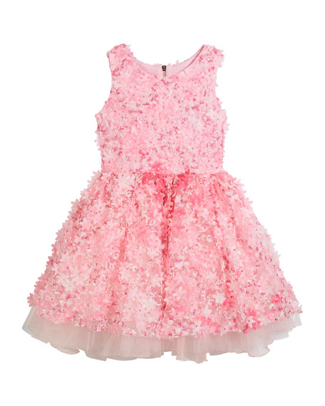 3D Flower Party Dress, Size 7-16