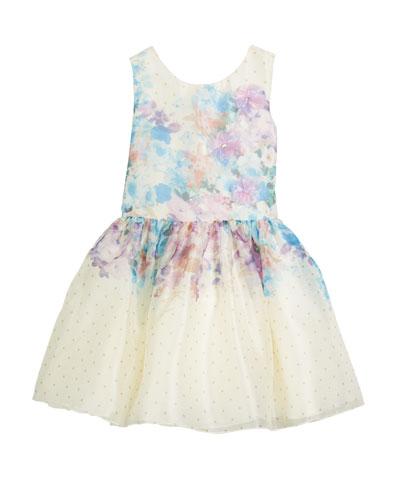 Ombré Floral Party Dress, Size 7-16