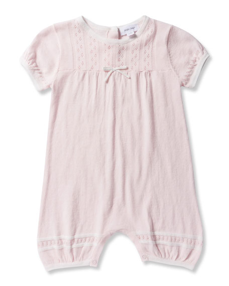 Take Me Home Knit Pointelle Shortall, Size 0-12 Months