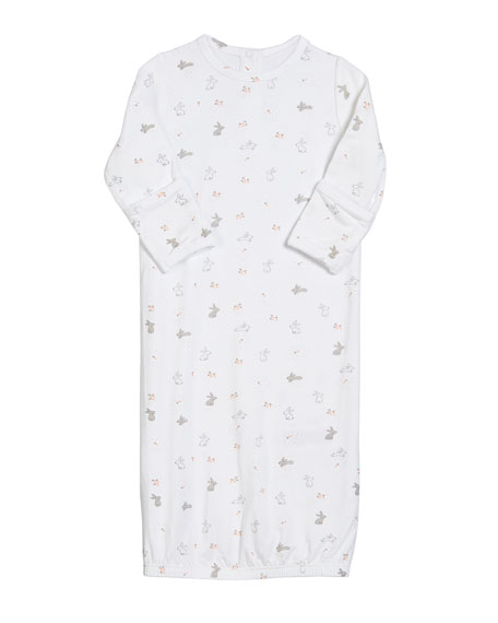 Angel Dear Ditsy Rabbit Gown, Size 0-3 Months