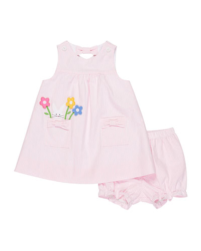Where is the Bunny Striped Seersucker Dress w/ Bloomers, Size 3-24 Months