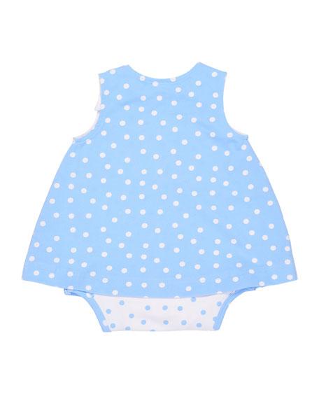 Polka-Dot Bodysuit w/ Dress Overlay, Size 3-12 Months