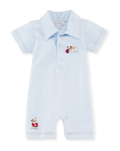 Burly Bulldogs Polo Pima Playsuit, Size 3-18 Months