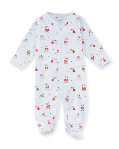 Burly Bulldogs Printed Pima Footie Playsuit, Size 0-9 Months