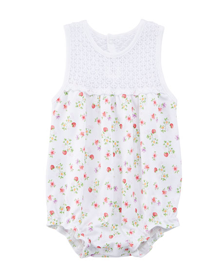 Blooming Berries Sleeveless Pima Bodysuit, Size 3-9 Months