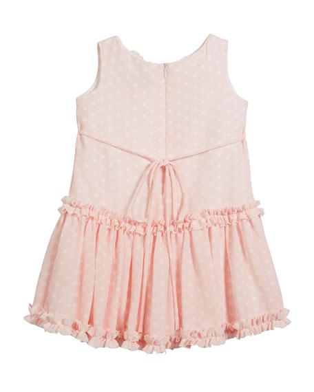Pretty in Pink Polka-Dot Ruffle Dress, Size 7-14