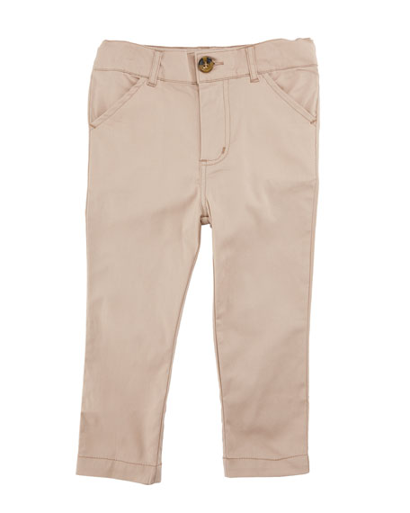 Twill Straight-Leg Pants, Size 2-7