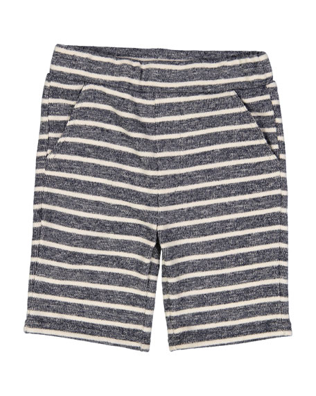 Cotton-Blend Striped Shorts, Size 2-7
