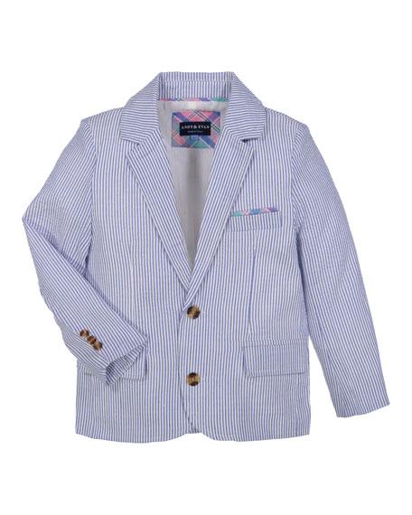 Boys' Two-Piece Seersucker Suit, Size 3-24 Months