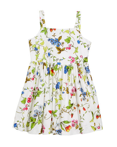 Emaline Floral-Print Dress, Size 8-14