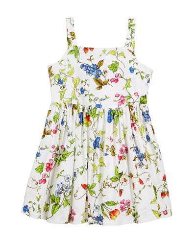 Emaline Floral-Print Dress, Size 4-7