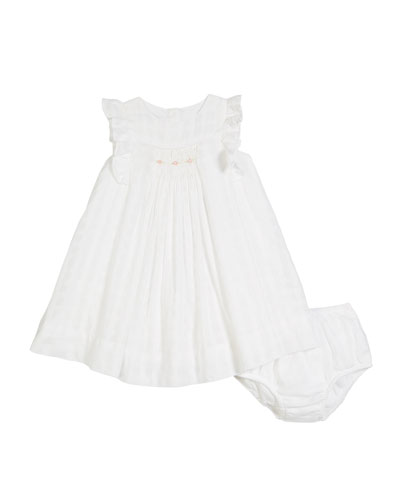 Windowpane Knit Dress w/ Bloomers, Size 9-24 Months