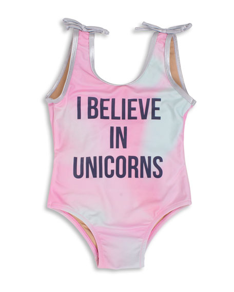 Shade Critters Unicorns Rainbow One-Piece Swimsuit, Size 6M-5