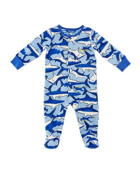 Ziggy Shark & Diver Footie Pajamas, Size 0-12 Months