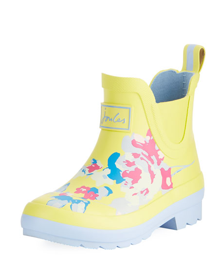 Wellibob Floral Rubbed Rain Boot, Baby/Toddler/Kid
