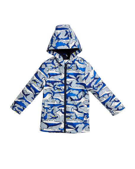 Skipper Shark Hooded Raincoat, Size 3-6