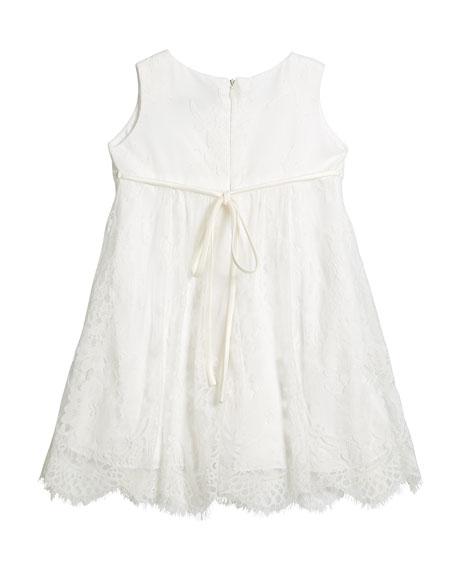 Lace Empire-Waist Sleeveless Dress, Size 7-14