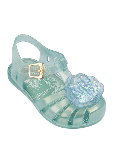 Mini Aranha XII Seashell Cutout Sandal, Toddler