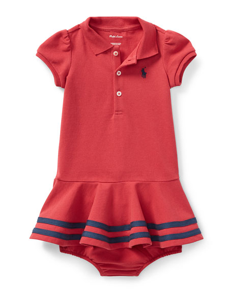 Ralph Lauren Childrenswear Short-Sleeve Striped-Hem Knit Polo