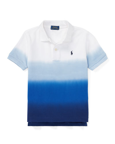 Dip-Dye Short-Sleeve Polo, Size 5-7