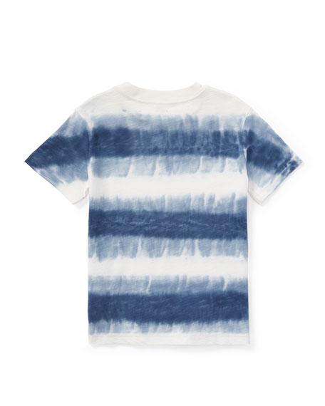 Tie-Dye Short-Sleeve Knit Top, Size 5-7