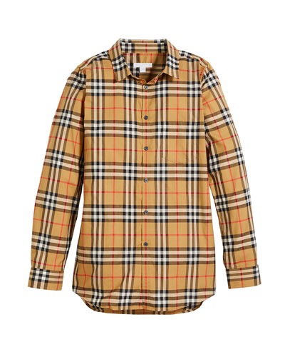 Fred Long-Sleeve Check Shirt, Size 4-14