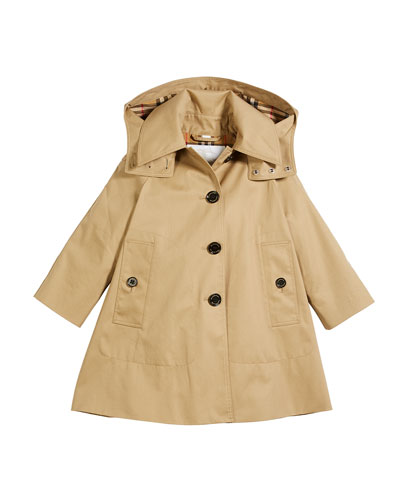 Bethel Hooded Trenchcoat, Size 4-14