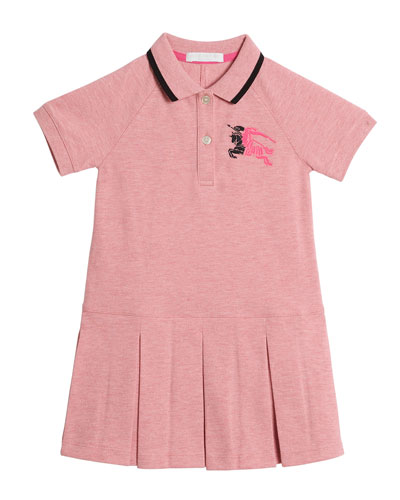 Mini Molly Anna Logo Polo Dress, Size 4-14