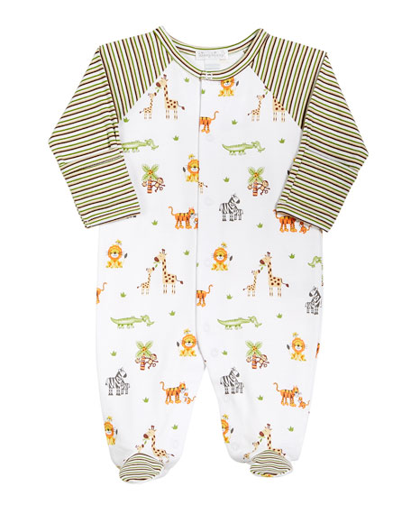 Kissy Kissy Jolly Jungle Printed Footie Playsuit, Size