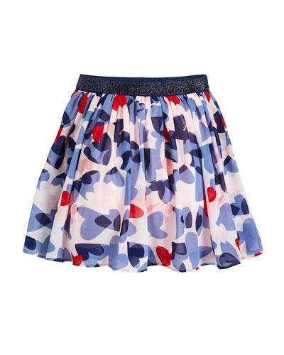 confetti heart a-line skirt, size 7-14