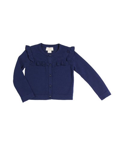 ruffle-yoke cardigan, size 2-6x