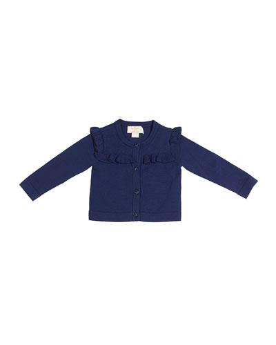 ruffle-yoke cardigan, size 12-24 months