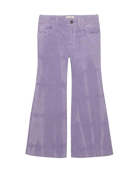 Gucci Dyed Velvet Corduroy Bell Bottom Pants, Size
