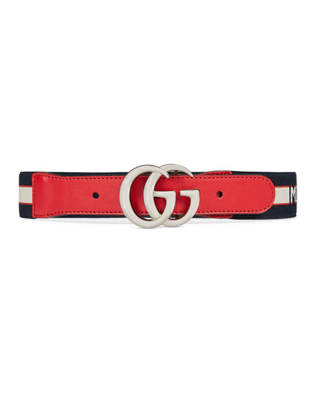 Kids' Cintura Gucci Monster Jacquard Elasticized Belt