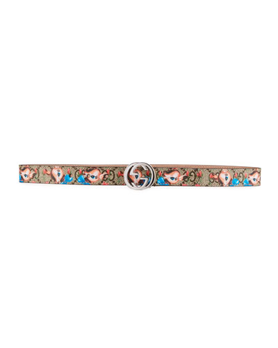 Kids' Fawns-Print GG Supreme Belt