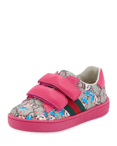 New Ace GG Supreme Fawns-Print Sneakers, Toddler