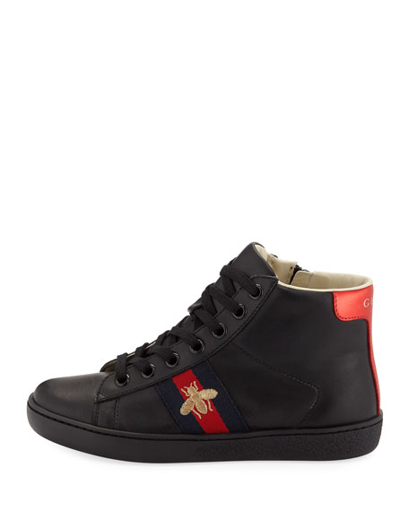 3f8a1fa4018e Gucci New Ace Leather High-Top Sneakers