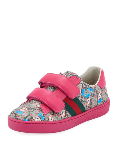 New Ace GG Supreme Fawns-Print Sneakers, Kids