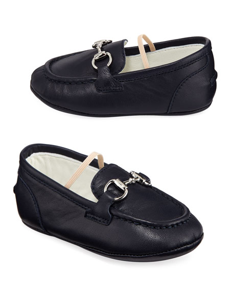 Gucci Jordaan Leather Loafers, Baby In Blue