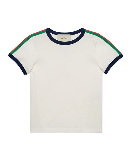Gucci Web-Trim Kingsnake Tee, Size 4-12