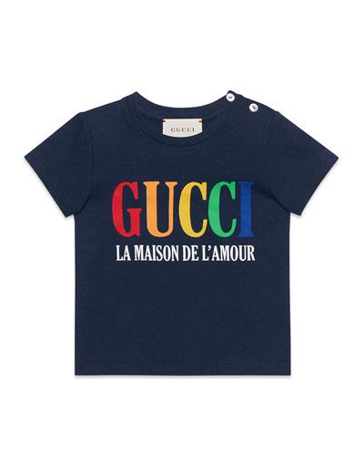 Rainbow Logo Short-Sleeve T-Shirt, Size 12-36 Months