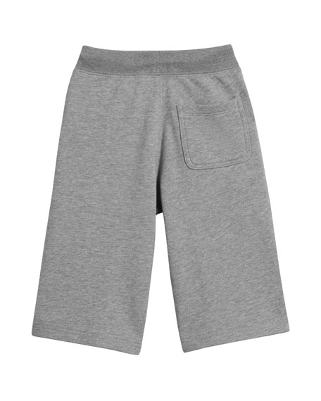 Heathered Logo Shorts, Size 4-14
